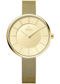 fashion наручные  женские часы Obaku V185LXGGMG. Коллекция Mesh