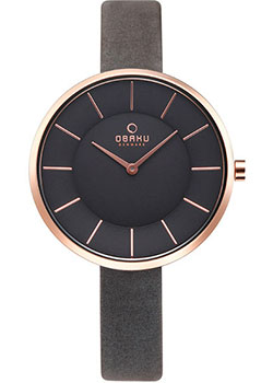 fashion наручные  женские часы Obaku V185LXVJRJ. Коллекция leather.