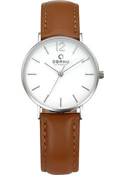 fashion наручные  женские часы Obaku V197LXCWRN. Коллекция Leather