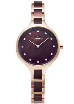 fashion наручные  женские часы Obaku V218LXVNSN. Коллекция Links.