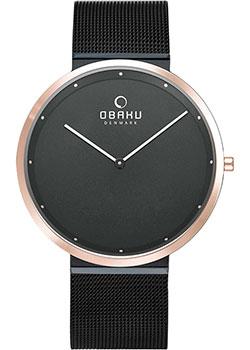 fashion наручные  мужские часы Obaku V230GXMBMB. Коллекция Ultra Slim.