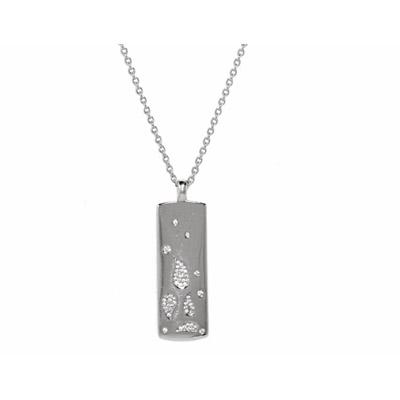 Серебряное колье  PCNL-90339.A