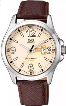 Японские наручные  мужские часы Q&Q A200J303. Коллекция Кварцевые