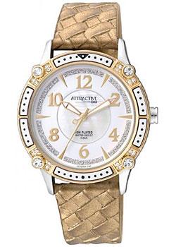 Японские наручные  женские часы Q&Q DA75J504. Коллекция Attractive