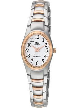 Японские наручные  женские часы Q&Q F279J414. Коллекция Elegant