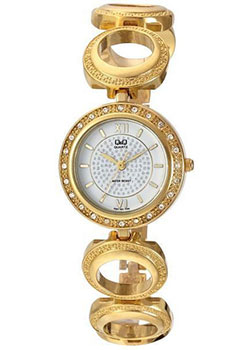 Японские наручные  женские часы Q&Q F341J001. Коллекция Elegant