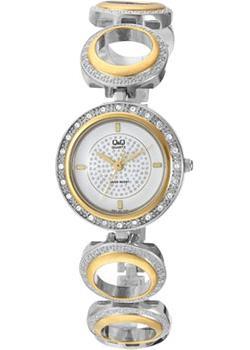 Японские наручные  женские часы Q&Q F341J401. Коллекция Elegant