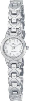 Японские наручные  женские часы Q&Q F353204. Коллекция Elegant
