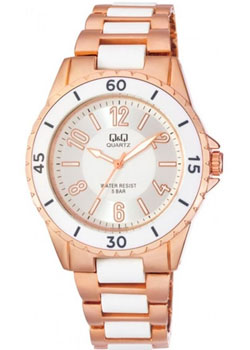 Японские наручные  женские часы Q&Q F461014. Коллекция Кварцевые