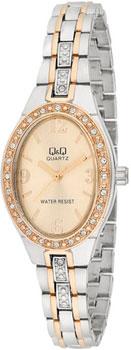 Японские наручные  женские часы Q&Q F517403. Коллекция Elegant