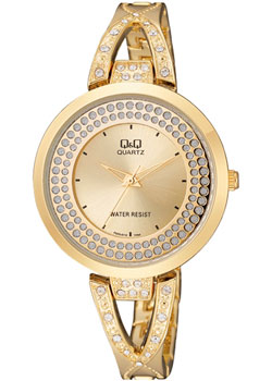 Японские наручные  женские часы Q&Q F529J010. Коллекция Кварцевые