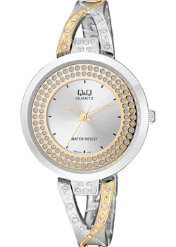 Японские наручные  женские часы Q&Q F529J401. Коллекция Кварцевые