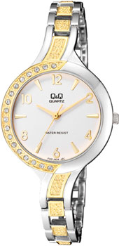 Японские наручные  женские часы Q&Q F551J404. Коллекция Elegant