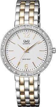 Японские наручные  женские часы Q&Q F559401. Коллекция Elegant