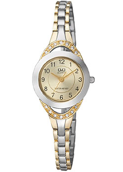 Японские наручные  женские часы Q&Q F581J403. Коллекция Elegant