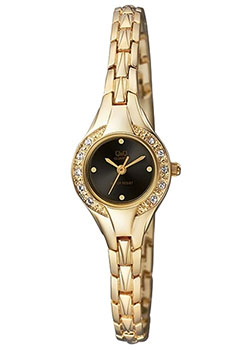 Японские наручные  женские часы Q&Q F621J002. Коллекция Elegant