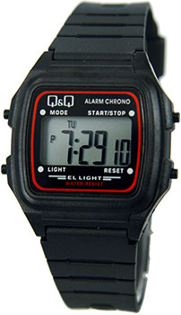 Японские наручные  мужские часы Q&Q L116J001. Коллекция Sports