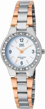 Японские наручные  женские часы Q&Q Q691J404. Коллекция Elegant