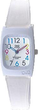 Японские наручные  женские часы Q&Q VP65J018. Коллекция Kids