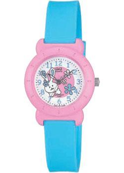 Японские наручные  женские часы Q&Q VP81J001. Коллекция Kids