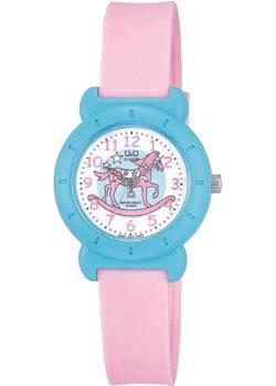 Японские наручные  женские часы Q&Q VP81J004. Коллекция Kids