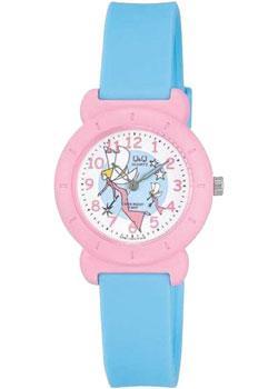Японские наручные  женские часы Q&Q VP81J005. Коллекция Kids