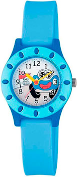 Японские наручные  мужские часы Q&Q VQ13J001. Коллекция Kids