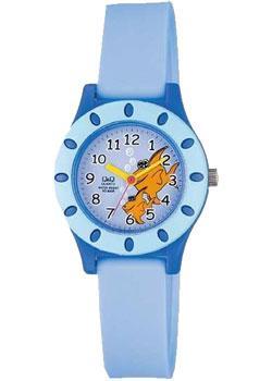 Японские наручные  женские часы Q&Q VQ13J005. Коллекция Kids