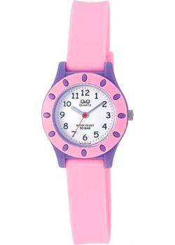 Японские наручные  женские часы Q&Q VQ13J013. Коллекция Kids
