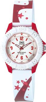 Японские наручные  женские часы Q&Q VQ96J016. Коллекция Kids