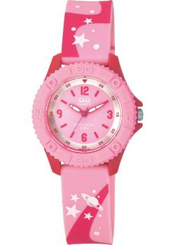 Японские наручные  женские часы Q&Q VQ96J019. Коллекция Kids