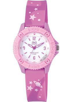 Японские наручные  женские часы Q&Q VQ96J020. Коллекция Kids