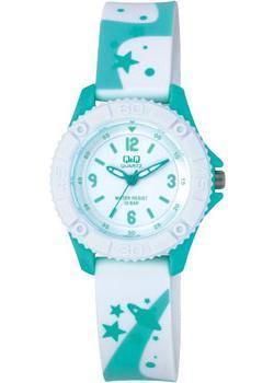 Японские наручные  женские часы Q&Q VQ96J021. Коллекция Kids