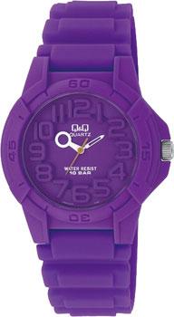 Японские наручные  женские часы Q&Q VR00J003. Коллекция Kids