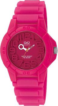 Японские наручные  женские часы Q&Q VR00J004. Коллекция Kids
