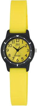 Японские наручные  женские часы Q&Q VR15J004. Коллекция Kids