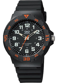 Японские наручные  мужские часы Q&Q VR18J008. Коллекция Sports