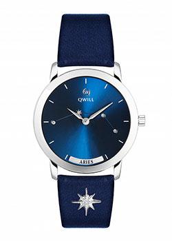 Российские наручные  женские часы Qwill 6050.01.04.9.96A. Коллекция Galaxy
