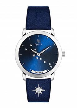 Российские наручные  женские часы Qwill 6050.01.04.9.96B. Коллекция Galaxy