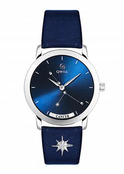 Российские наручные  женские часы Qwill 6050.01.04.9.96D. Коллекция Galaxy