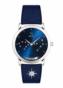 Российские наручные  женские часы Qwill 6050.01.04.9.96H. Коллекция Galaxy
