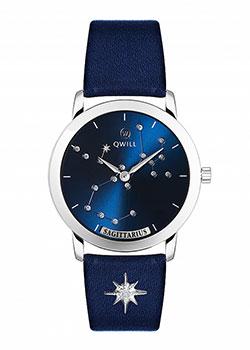 Российские наручные  женские часы Qwill 6050.01.04.9.96I. Коллекция Galaxy