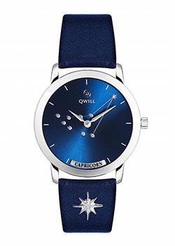 Российские наручные  женские часы Qwill 6050.01.04.9.96J. Коллекция Galaxy