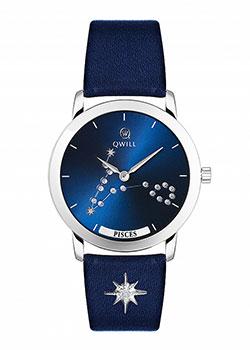 Российские наручные  женские часы Qwill 6050.01.04.9.96K. Коллекция Galaxy