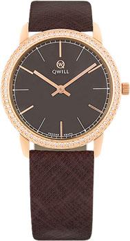 Российские наручные  женские часы Qwill 6050.05.11.1.65A. Коллекция Classic