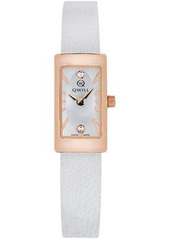Российские наручные  женские часы Qwill 6052.00.00.1.26A. Коллекция Classic