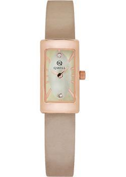 Российские наручные  женские часы Qwill 6052.00.00.1.46A. Коллекция Classic