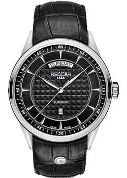 Швейцарские наручные  мужские часы Roamer 508.293.41.55.05. Коллекция Superior.