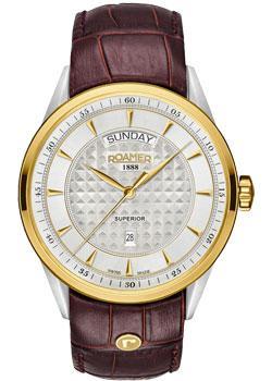 Швейцарские наручные мужские часы Roamer 508.293.47.15.05. Коллекция Superior