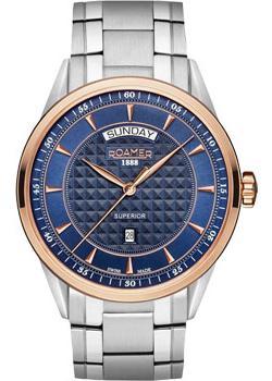 Швейцарские наручные  мужские часы Roamer 508.293.49.45.50. Коллекци Superior